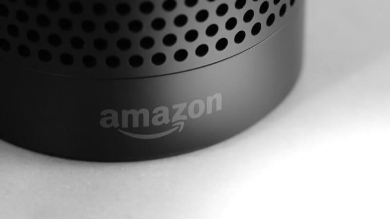The base of the Amazon Echo, a smart speaker home of voice agent Alexa